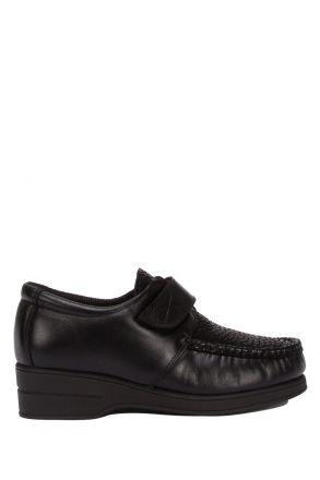 5627 Pinoso's Kadın Ayakkabı 35-42 Siyah Krokodil / Black Croco