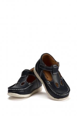 604 Kalite Çocuk Ayakkabı (Velkrolu) 25-30 Lacivert / Navy
