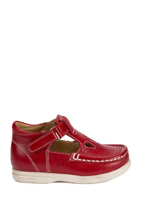 604 Kalite İlk Adım Çocuk Ayakkabısı (Velkrolu) 19-24 Kırmızı / Red