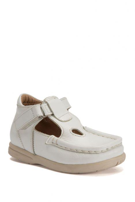 604 Kalite İlk Adım Çocuk Ayakkabısı (Velkrolu) 19-24 Beyaz / White