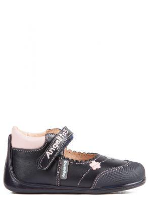 609 Kifidis Angel Hakiki Deri İlk Adım Ayakkabı 19-24 Mavi / Marino