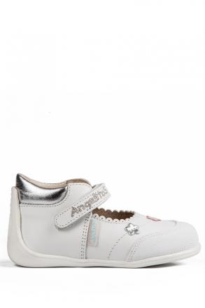 609 Kifidis Angel Hakiki Deri İlk Adım Ayakkabı 19-24 Beyaz / Bianco