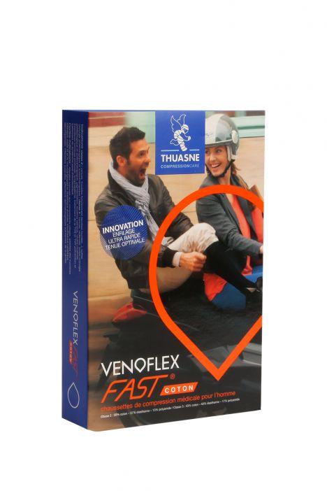6129-13 Venoflex Fast 15-20 mmHg Erkek İçin Çorap (Uzun) Siyah / Black