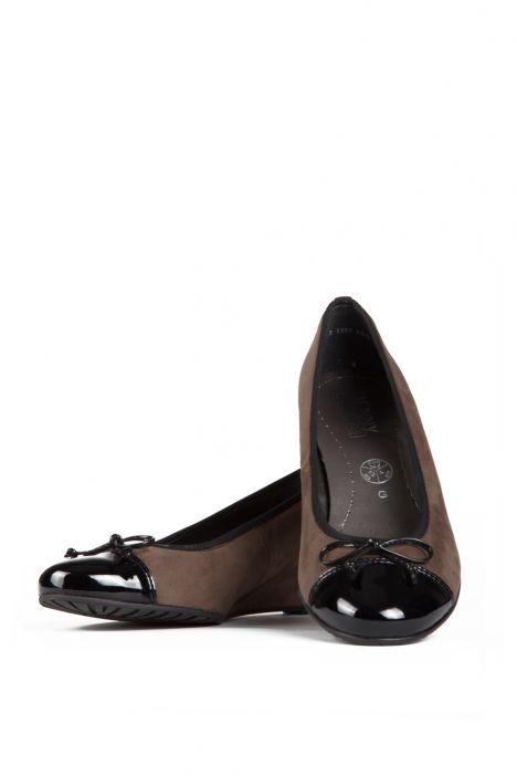 65230 Ara Kadın Dolgu Topuk Nubuk Ayakkabı 3,5-8.5 SCHWARZ,TAUPE - 05ST