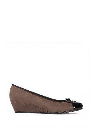 65230 Ara Kadın Dolgu Topuk Nubuk Ayakkabı 3,5-8.5