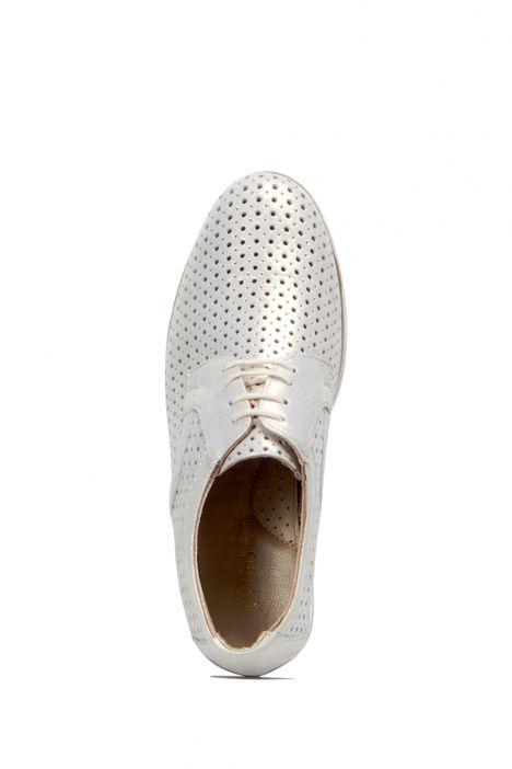 6736 Anemon Kadın Ayakkabı 36-41 Bej Simli Nubuk