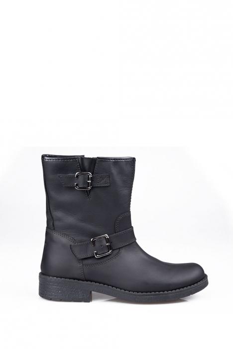 6839F31 Kifidis Melania Hakiki Deri Çocuk Çizme 30-34 Siyah / Nero