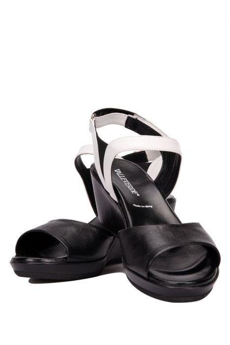7056 Valleverde Kadın Sandalet 35-41 NEGRO-BIANCO