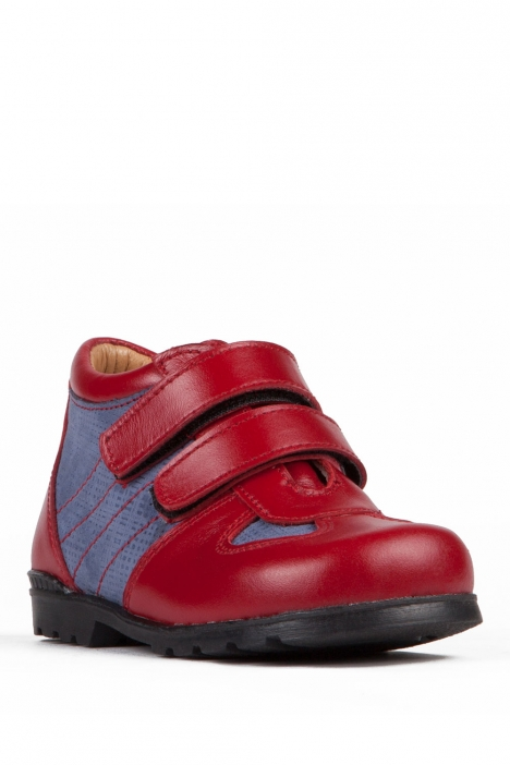 712 Kalite İlk Adım Çocuk Ayakkabısı 19-24 KIRMIZI-MAVİ