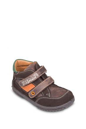 7208B31 Kifidis Melania Hakiki Deri İlk Adım Çocuk Ayakkabısı 21-26 Kahverengi / Testamoro