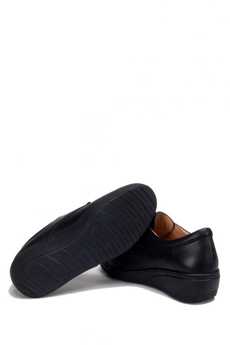 8287 Kifidis Kadın Cırtlı Deri Anatomik Ayakkabı 36-41 Siyah / Black - 130-453