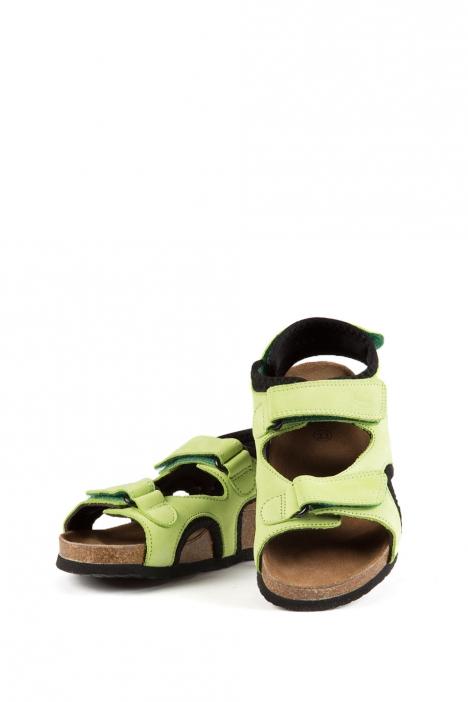 8843 Scholl Volga Çocuk Sandalet 29-38 LIME GREEN