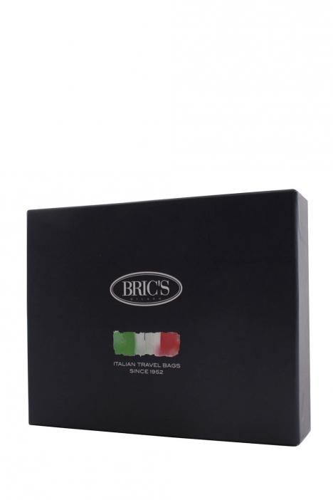 9212 Bric's Cervino Erkek Deri Cüzdan 8x8,5 cm Kahverengi / Brown