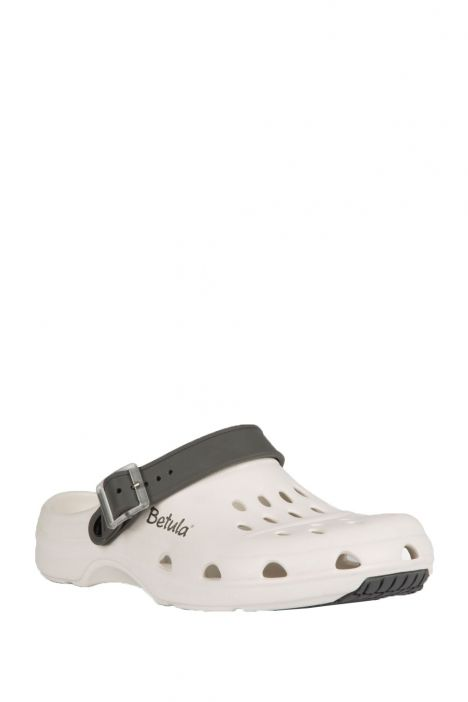941363 Birkenstock Betula Gelato Anti-slip Erkek Sabo Beyaz - Gri / White - Grey