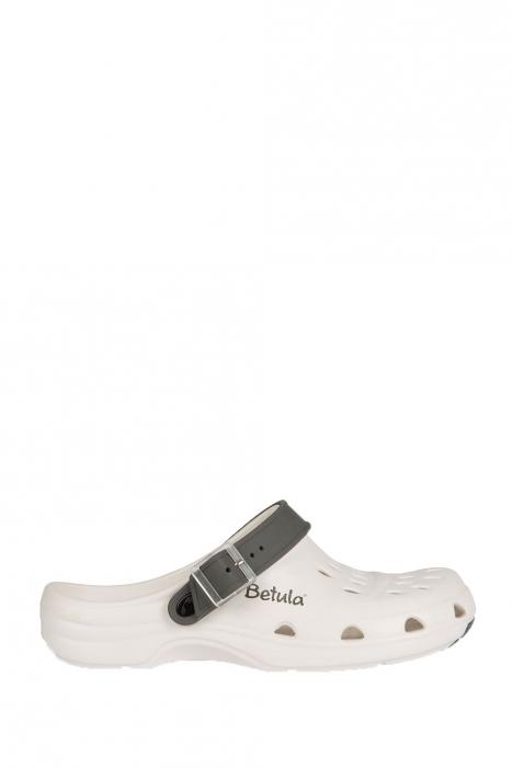 941363 Birkenstock Betula Gelato Anti-slip Kadın Sabo Beyaz - Gri / White - Grey