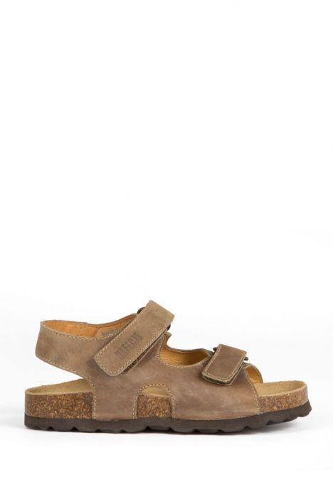9504 Ch-Kifidis Çocuk Sandalet 21-26 KHAKI-YEŞİL TONU