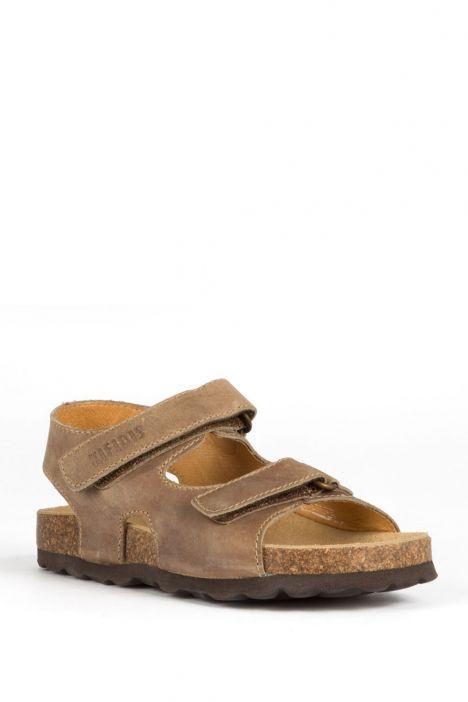 9504 Ch-Kifidis Çocuk Sandalet 27-30 KHAKI-YEŞİL TONU