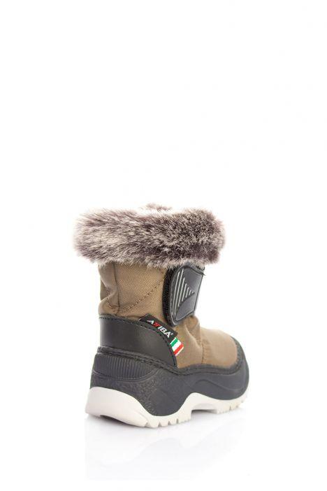 99303 Fur Castiglia Unisex Çocuk Kar Botu 20/21-30/31 Yeşil / Olive