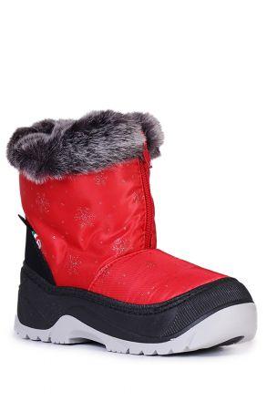 99951 Fur Basilea Unisex Çocuk Kar Botu 20/21-30/31 Kırmızı / Red