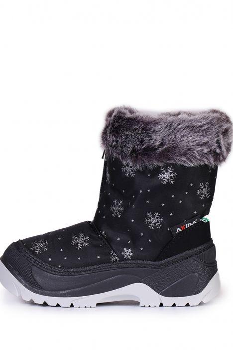 99951 Fur Basilea Unisex Çocuk Kar Botu 20/21-30/31 Siyah / Black