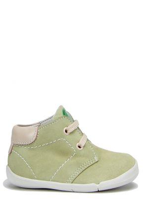 FK11 Kifidis İlk Adım Çocuk Ayakkabısı 20-25 Yeşil Süet / Green Suede
