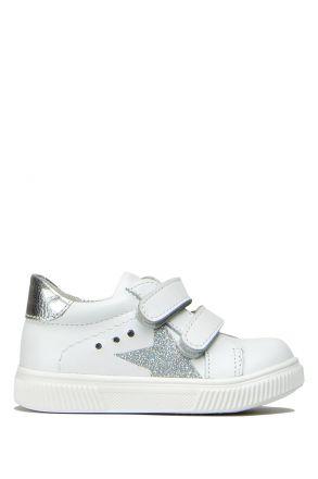 FK41 Kifidis İlk Adım Çocuk Ayakkabısı 21-25 Beyaz-Lame