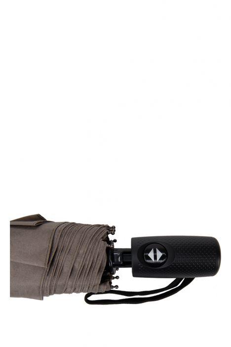 FLA-4/F-DB Ferre Desenli Otomatik Mekanizmalı Uzun Şemsiye Gri Çiçekli