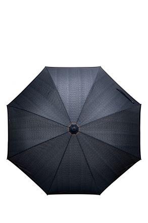 FLA-856V Ferre Desenli Otomatik Mekanizmalı Ahşap Saplı Uzun Şemsiye DESENLİ KAHVE