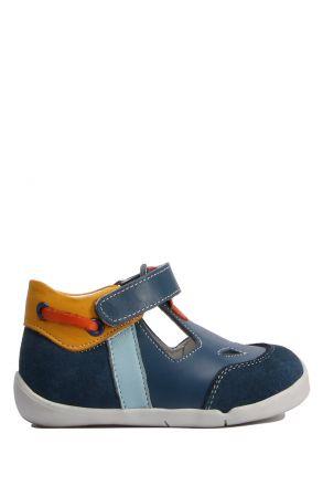 GV003 Kifidis Paplus İlk Adım Erkek Çocuk Deri Ayakkabı 18-25