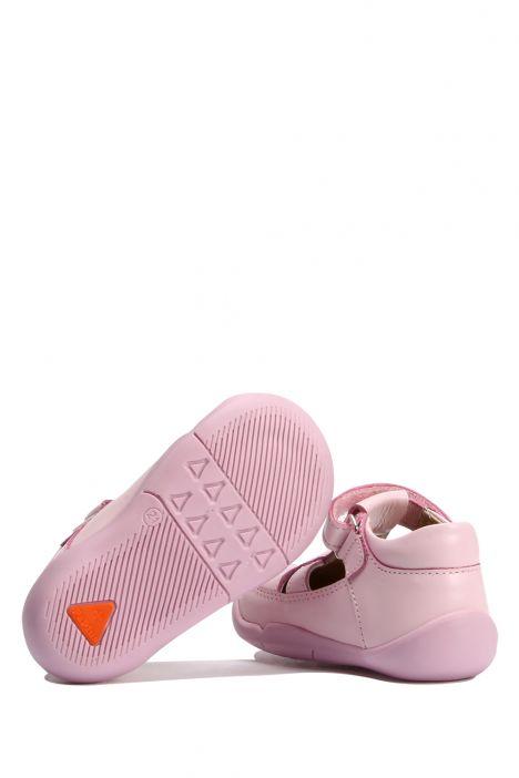 GV09 Kifidis Paplus İlk Adım Kız Çocuk Deri Ayakkabı 18-25 Pembe Deri