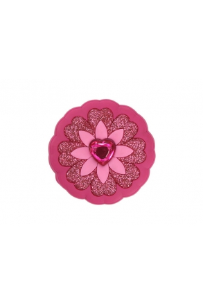J0006 Jibbitz Çocuk Toka Heart Flower