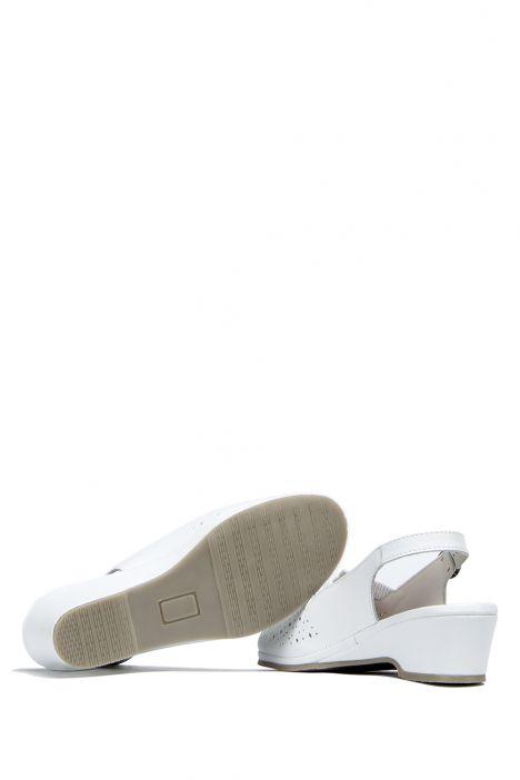 Jatina Ac-Kifidis Kadın Anatomik Deri Sandalet 35-42 Beyaz / Bianco