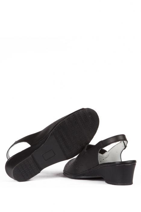 Jatina Ac-Kifidis Kadın Anatomik Deri Sandalet 35-42 Siyah/Black 738