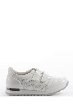 K22P Kifidis Kids Gloss Çocuk Spor Ayakkabı 27-31 Beyaz / White