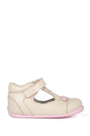 K89 Kifidis-Kids İlk Adım Çocuk Ayakkabısı 19-24 Krem / Cream