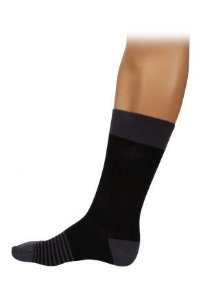 Kifidis Tencel Topuk Burun Çizgili Erkek Çorap