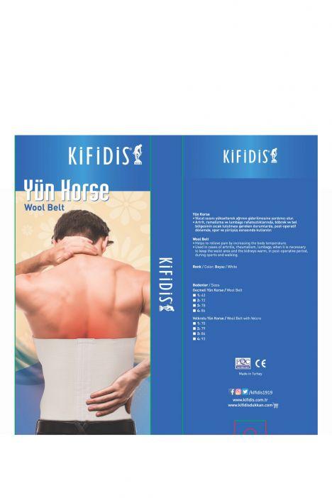 Kifidis Yün Korse (Angora) Beyaz / Bianco