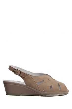 Marina Ac-Kifidis Kadın Anatomik Nubuk Sandalet 35-42