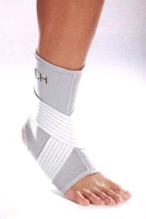 NAN 14 Kifidis-Chf Bandajlı Neopren Ayak Bilekliği Gri-Lacivert