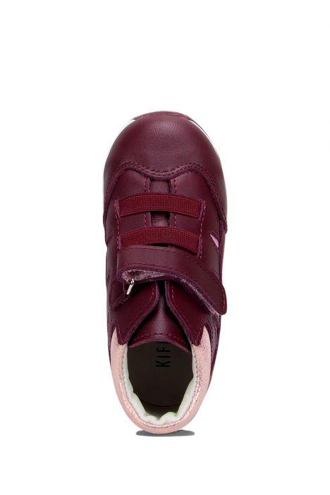 RK21 Kifidis Unisex Çocuk Ayakkabısı 23-30 Bordo Deri
