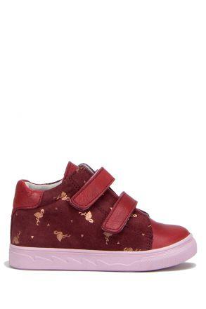 RK30 Kifidis Kız Çocuk Ayakkabısı 25-30 Bordo Deri