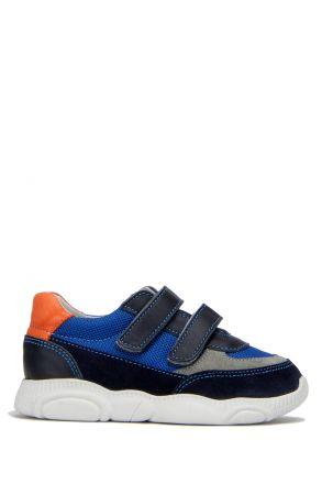 RP36 Kifidis-Kids Çocuk Deri Spor Ayakkabı 21-30 Lacivert Süet / Navy Blue Suede