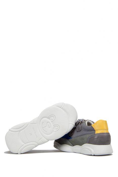RP36 Kifidis-Kids Çocuk Deri Spor Ayakkabı 21-30 Gri Süet