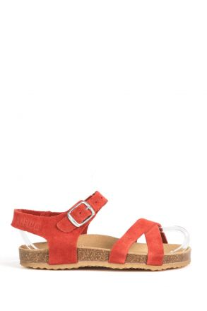 10888 Ch-Kifidis Çocuk Sandalet 31-35 Kırmızı / Red