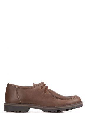 3608F4 Kifidis Melania Hakiki Deri Çocuk Ayakkabı 31-40 Kahverengi / Testamoro