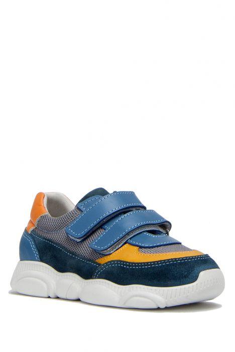 RP36 Kifidis-Kids Çocuk Deri Spor Ayakkabı 21-30 Kot Süet
