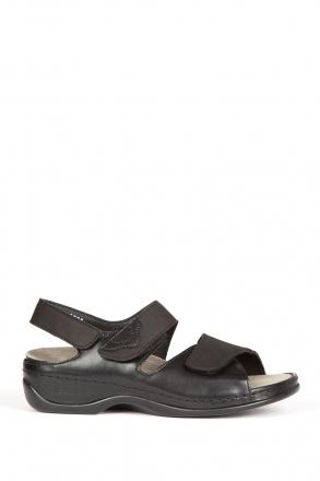 1040 Berkemann Kadın Sandalet 3.0-8.5 Schwarz Leder/Str. - 970