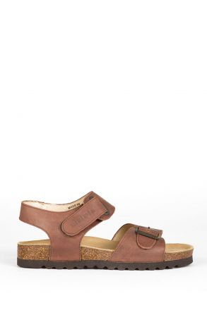 0229 Ch-Kifidis Kadın Sandalet 36-42 Kahverengi / Brown