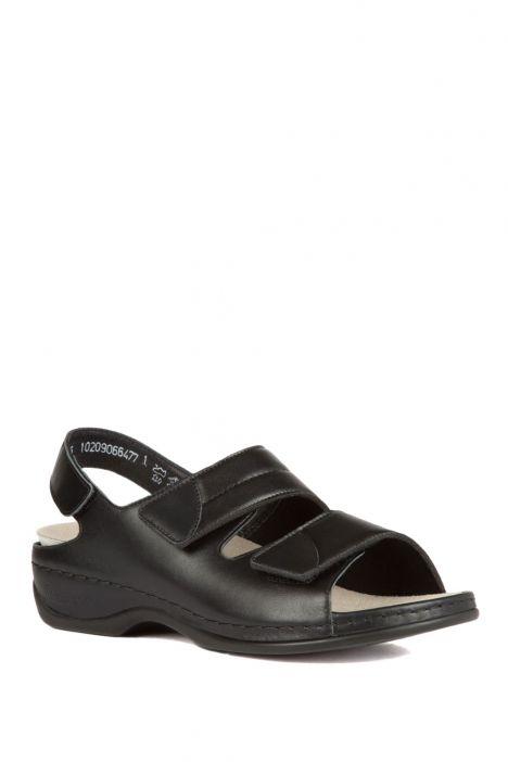 1020 Berkemann Kadın Sandalet 3.0-8.5 Schwarz Leder/Strc. - 906
